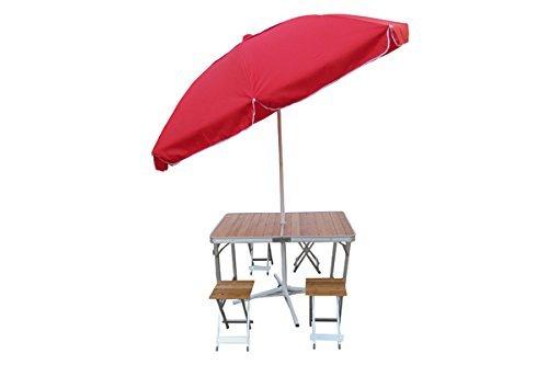 Aluminium Picnic Table with separate chairs+Umbrella