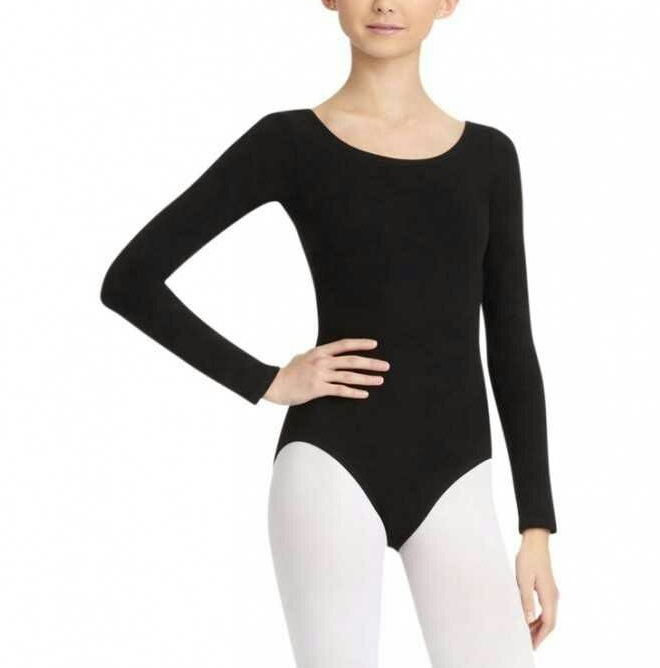 Black Full Sleeve Leotard Body Sutt