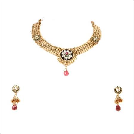 Designer Gold Antique Necklace Set