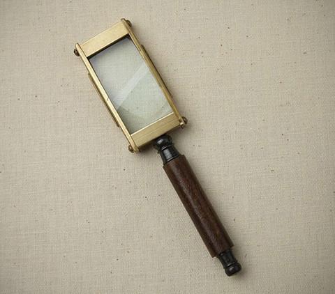 Magnifying Glass - Rectangular Brass Magnifying Gl