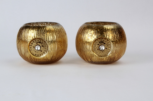 Brass Roly Poly Candle Votive