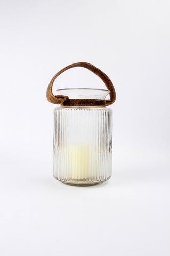 Leather Handle Jar Hurricane