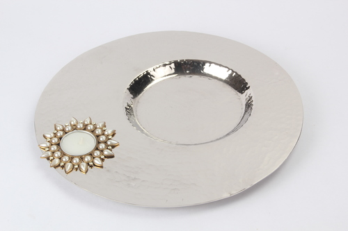 Hammered Tea Light Platter