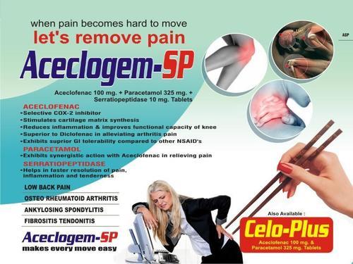 Aceclofenac Paracetamol Serratiopeptidase Tablet