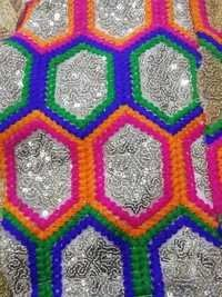 Fancy work Fulkari fabrics india