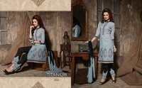 Titanium Embroidery Work Wholesale Salwar Suits