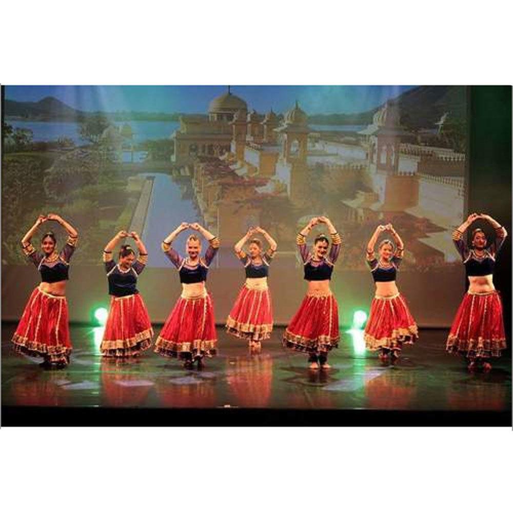 Belly Dance Velvet Top Red Skirt Costume