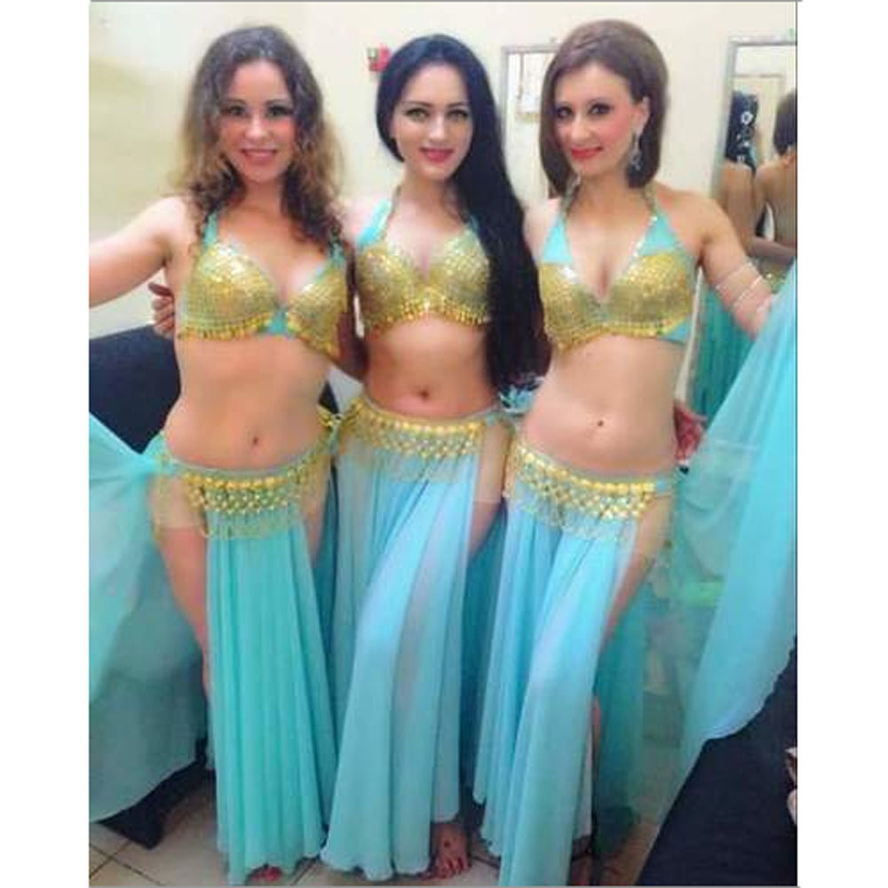 Belly Dance Terquice Gold Costume