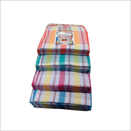 Cotton Checkered Bath Towel