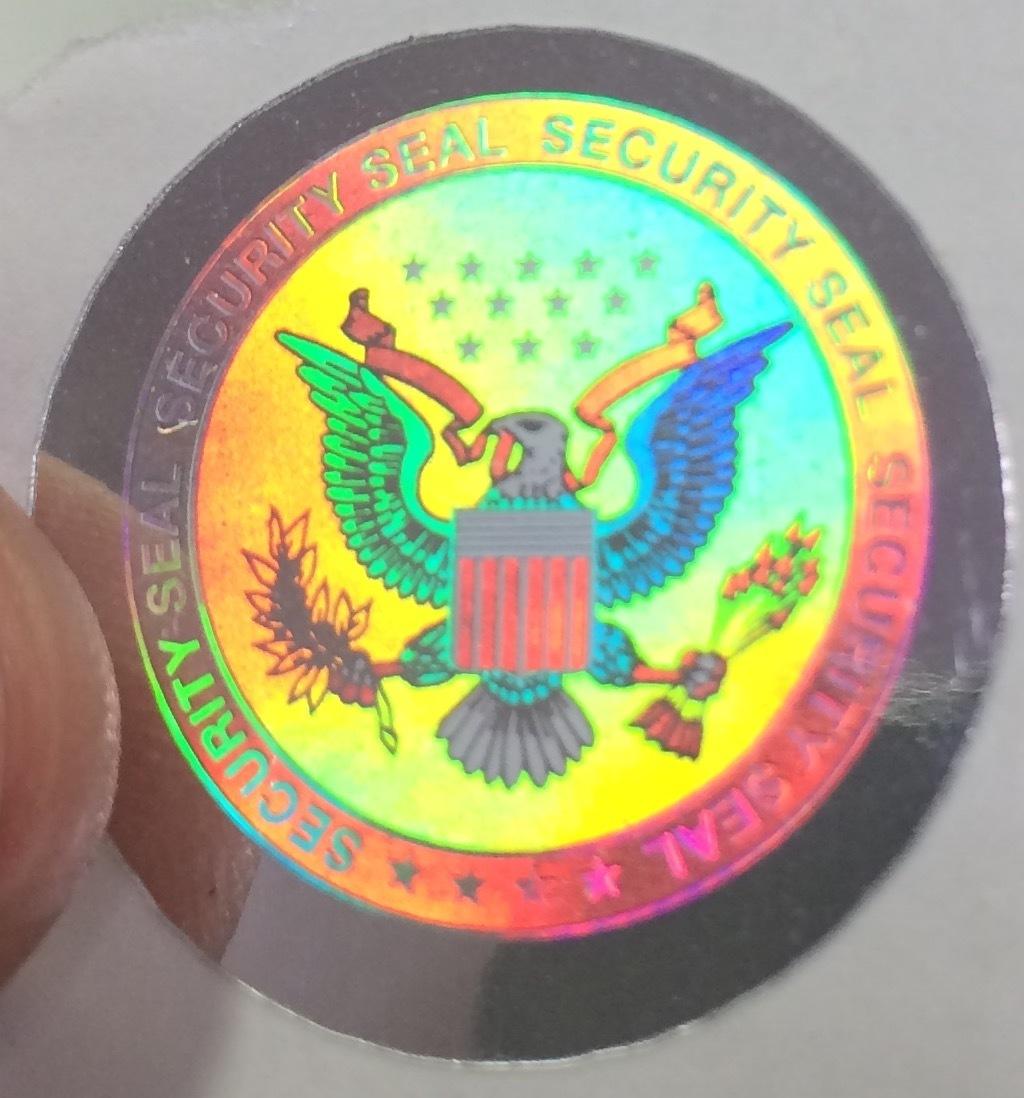 Seal of USA Hologram Labels