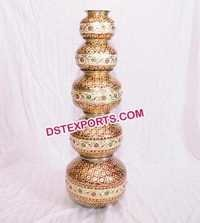 Wedding Meenakari Hand Made Steel Pot
