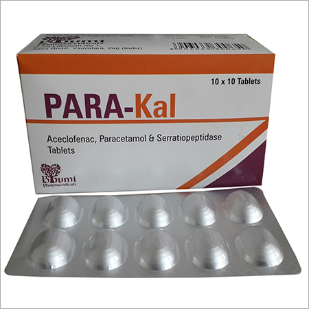 Aceclofenac  Paracetamol & Serratiopeptidase