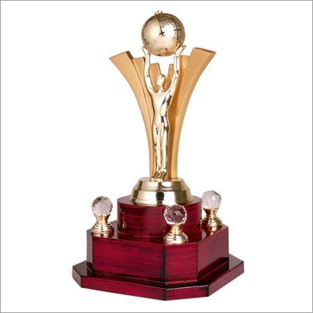 Man With Globe Trophy
