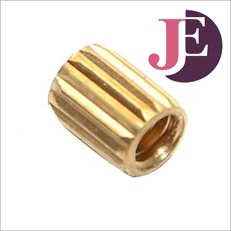 Brass Straight Knurling Insert For Wood