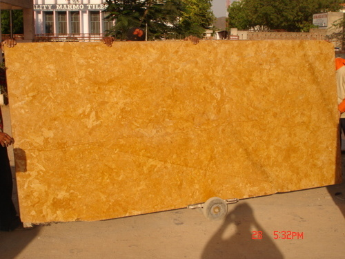 Golden Flower Marble