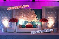 Beautiful Wedding Tufted Leather Panels Stage Decor