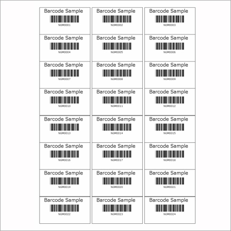 Price Tag Barcode Sticker