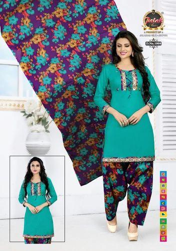 Palak Cotton Printed Dress Material