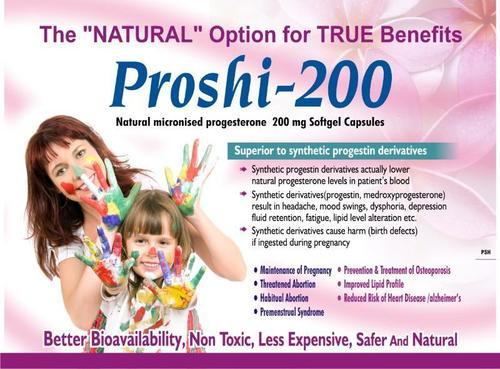 Natural Micronised Progesterone Softgel Capsules