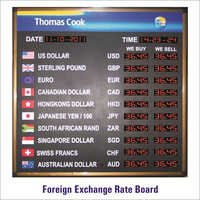 Foreign Exchange Rate Display Board