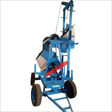 10-7 cft Concrete Mixer Mobile Hoist 2 Leg