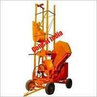 10-7 cft Concrete Mixer Mobile Hoist Hydraulic Hopper 2 Leg