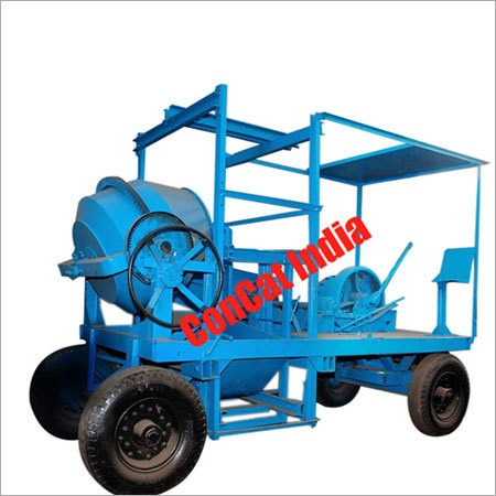 10/7 cft Concrete Mixer Mobile Hoist 4 Leg Type