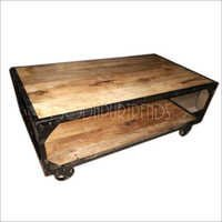 Industrial Wooden Center Table