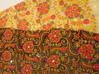 flower work fulkari fabrics