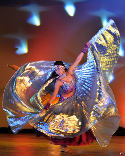 Multi Gold Belly Dance ISIS Wing