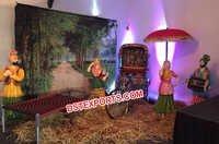 Village Theme Punjabi Wedding Stage Decoration