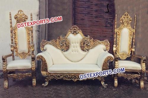 Golden Maharaja Brass Metal Sofa Set