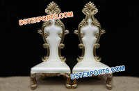Royal carving Bride Groom Chairs