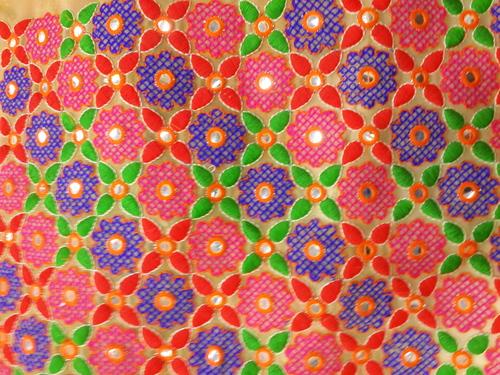 Fancy Fulkari work Cloth fabrics