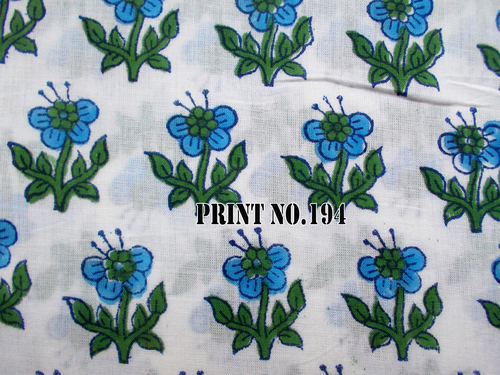 5 YARD Old Traditional Pattern Small Flower Print Flower Hand Block Print 100% Cotton Fabric