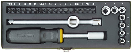 28-piece compact screwdriver set