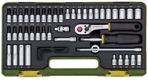 Precision engineer's set with baton ratchet