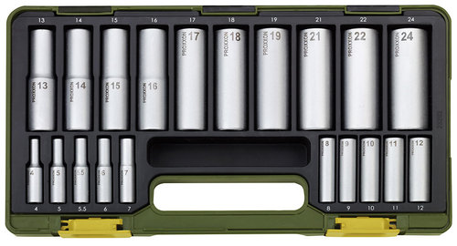 Specialty socket set with deep sockets