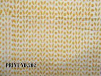 5 YARD HAND BLOCK PRINT100% COTTON FABRIC CUTLINE GEOMETRICAL DESIGN