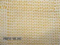 5 YARD HAND BLOCK PRINT100% COTTON FABRIC CUTLINE GEOMETRICAL DESIGN