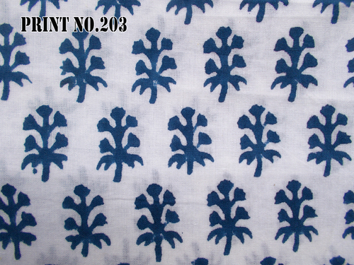 5 YARD HAND BLOCK PRINT100% COTTON FABRIC DARK NAVY BLUE BUTTI PRINT DESIGN