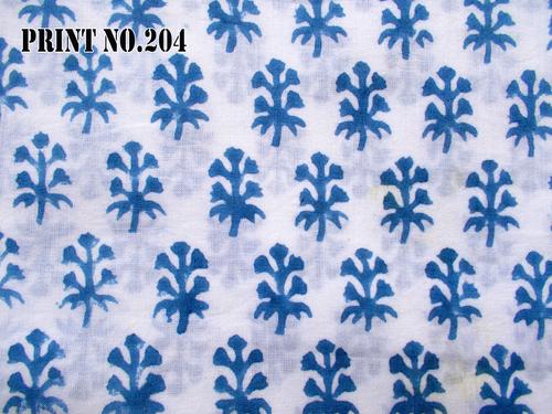 5 YARD HAND BLOCK PRINT100% COTTON FABRIC LIGHT BLUE BUTTI DESIGN