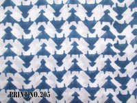 5 YARD HAND BLOCK PRINT100% COTTON FABRIC GEOMETRICAL UPDOWN DESIGN