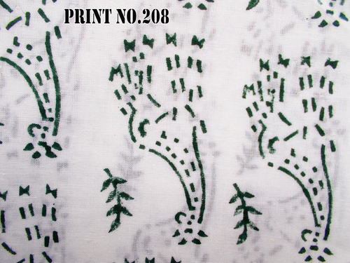 5 YARD HAND BLOCK PRINT 100% COTTON FABRIC NOVELTY DESIGN