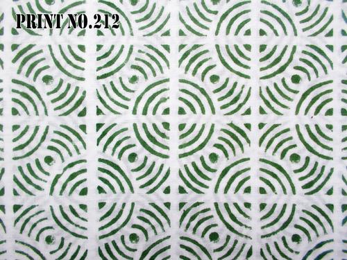 5 YARD HAND BLOCK PRINT100% COTTON FABRIC ROUND JAAL GREEN MATCHING DESIGN