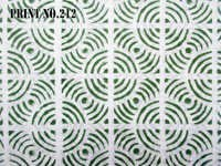 5 YARD HAND BLOCK PRINT100% COTTON FABRIC ROUND JAAL GREEN MATCHING DESIGN