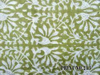 5 YARD HAND BLOCK PRINT 100% COTTON FABRIC MEHANDI COLOR JAAL DESIGN