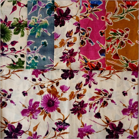 White Colour Sharbati Fabrics