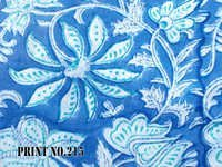 100% COTTON FABRIC BIG BLUE FLORAL DESIGN