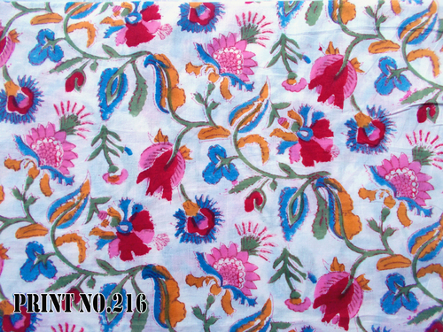 100% COTTON HAND BLOCK PRINT FABRIC